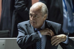 FIFA president Joseph S. Blatter puts his reading glasses away during the 65th FIFA Congress held at the Hallenstadion in Zurich, Switzerland, Friday, May 29, 2015 where he will run for re-election. THE CANADIAN PRESS/AP - Keystone, Patrick B. Kraemer