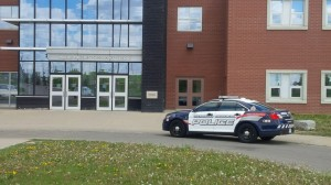 Huron Heights Secondary School under hold and secure May 22, 2015.