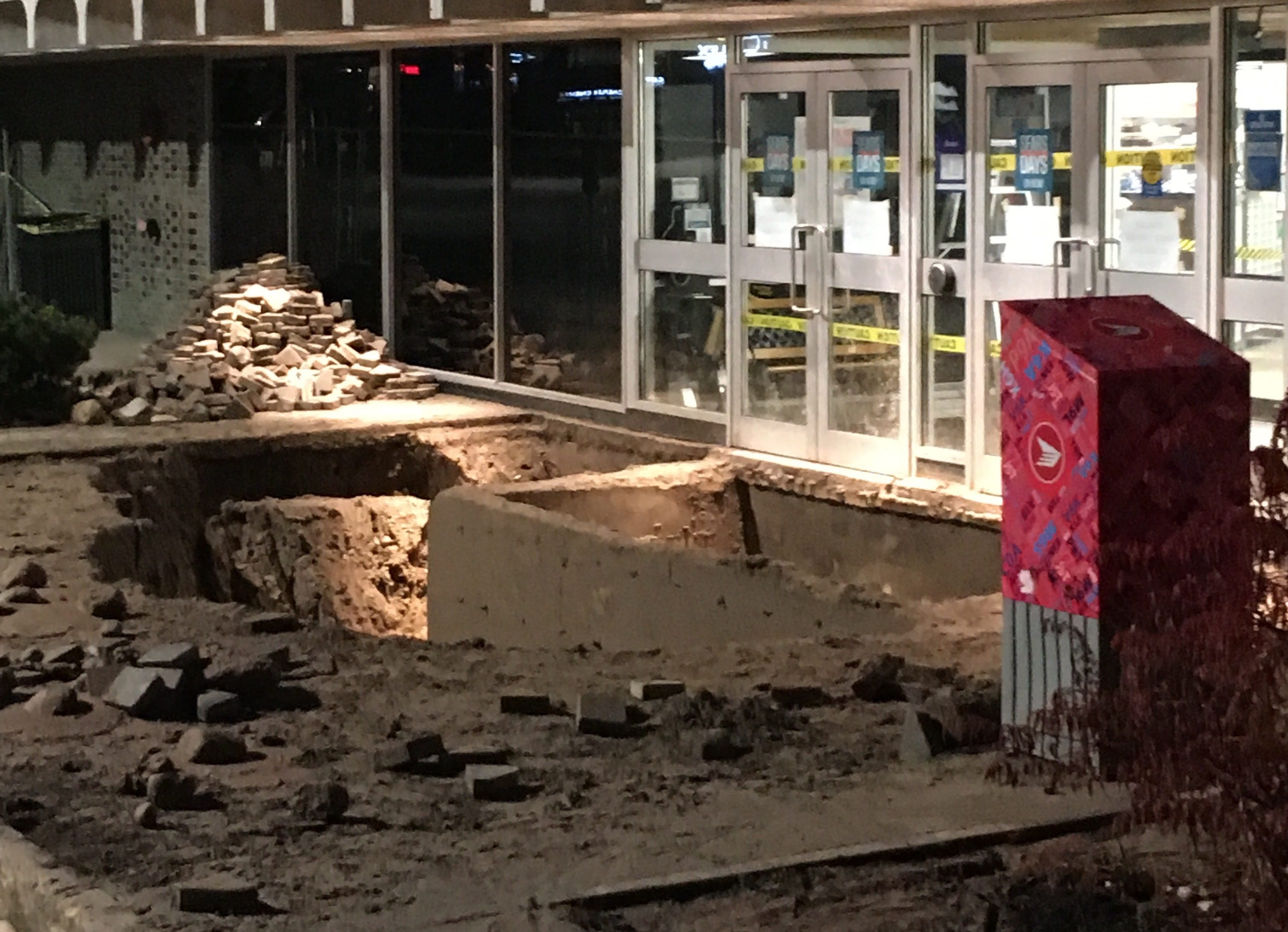 Uncategorized Sears Appliances Kitchener sinkhole washes out shoppers at fairview park mall 570 news sears kitcheners nov 15 2016 photo jeff pickel news