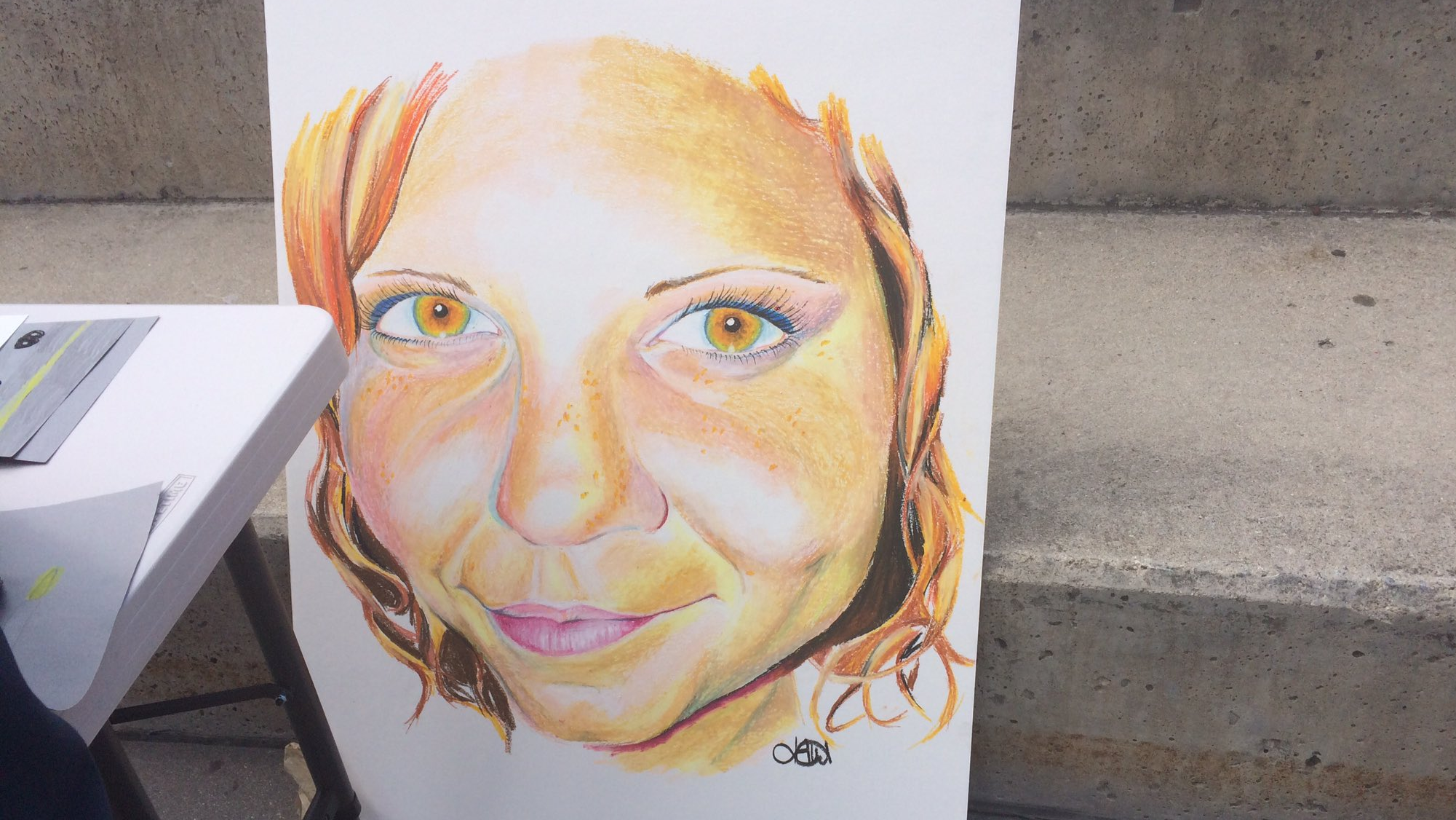 Painting honouring Heather Heyer who was killed during the Charlottesville attacks