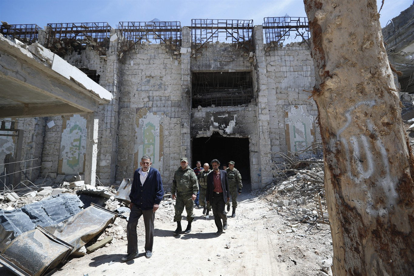 Syria UN envoy says UN security team visited Douma on Tuesday