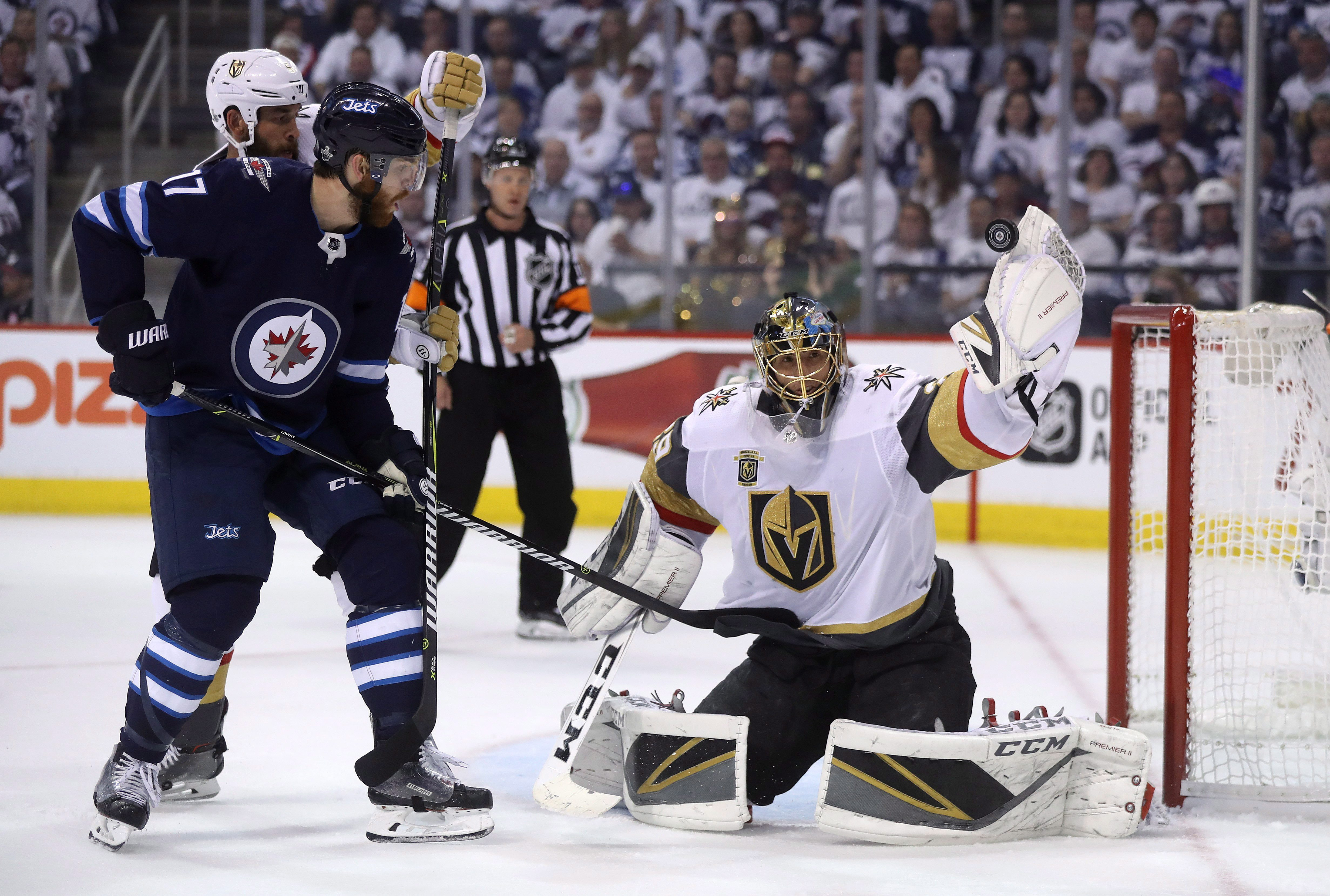 Golden Knights beat Jets to knot up series