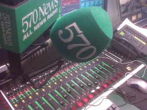 570 News board and mic
