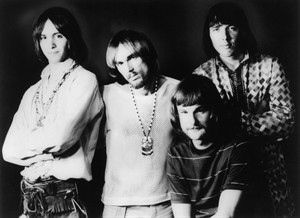 This April 9, 1969 photo shows members of Iron Butterfly, from left, Erik Brann, Ron Bushy, Lee Dorman, and Doug Ingle. Dorman, the bassist for psychedelic rock band, has died at age 70. (Copyright Bettmann/Corbis/AP Images)