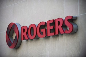 The Rogers Communications sign is marks the company's headquarters in Toronto, April 25, 2012. A number of Rogers customers in southern Ontario who lost access to their wireless data and home Internet services Wednesday night were all back online by early Thursday. THE CANADIAN PRESS/Aaron Vincent Elkaim