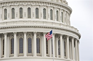 The Capitol dome is seen as automatic spending cuts are set to take effect on March 1, in Washington, Tuesday, Feb. 26, 2013. (AP Photo/J. Scott Applewhite)