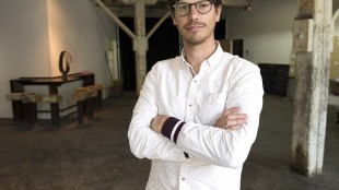 Jerome Glad, co-founder of Pepiniere and Co., poses for a photo at the site of his latest project, Tuesday, May 12, 2015 in Montreal. THE CANADIAN PRESS/Ryan Remiorz