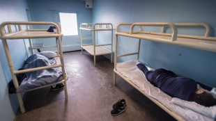 Prisoners sleep in one of the cells at the Baffin Correctional Centre, Thursday, April 23, 2015 in Iqaluit. THE CANADIAN PRESS/Paul Chiasson