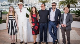 Bebe Cave, John C. Reilly, Salma Hayek, director Matteo Garrone, Vincent Cassel and Toby Jones from left to right pose for photographers during a photo call for the film Tale of Tales, at the 68th international film festival, Cannes, southern France, Thursday, May 14, 2015. (Photo by Vianney Le Caer/Invision/AP)