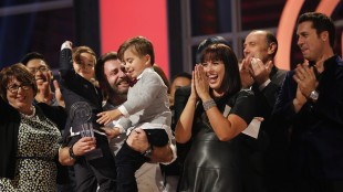 """David Jorge, a concrete contractor from Surrey, B.C., came out the winner in a face-off with Line Pelletier, a Canadian military veteran and computer specialist from Moncton, N.B., in the season 2 finale of """"MasterChef Canada."""" THE CANADIAN PRESS/ho-Courtesy of CTV"""