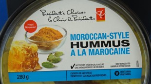 President's Choice Moroccan-style hummus has been recalled. It may contain the toxin produced by staphylococcus bacteria. (Photo: Canadian Food Inspection Agency)