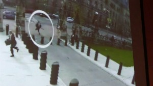 Michael Zehaf Bibeau is shown carrying a gun while running towards Parliament Hill in Ottawa on Wednesday, Oct. 23, 2014 in a still taken from video surveillance in this handout photo. THE CANADIAN PRESS/HO - RCMP
