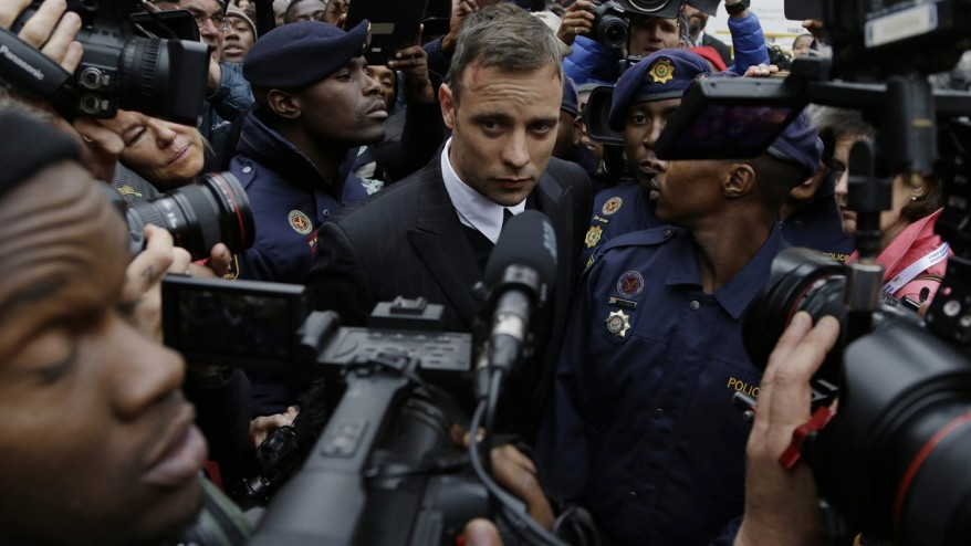 Pistorius shown in TV interview ahead of murder sentence