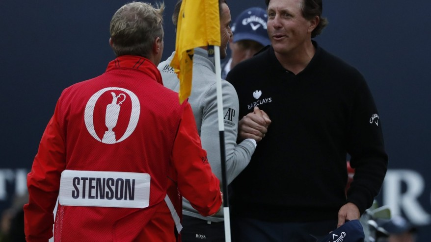Stenson wins duel with Mickelson at British Open