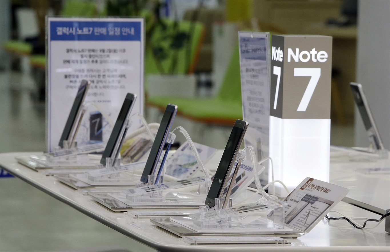 Federal order forbids Samsung Galaxy Note 7 use on planes