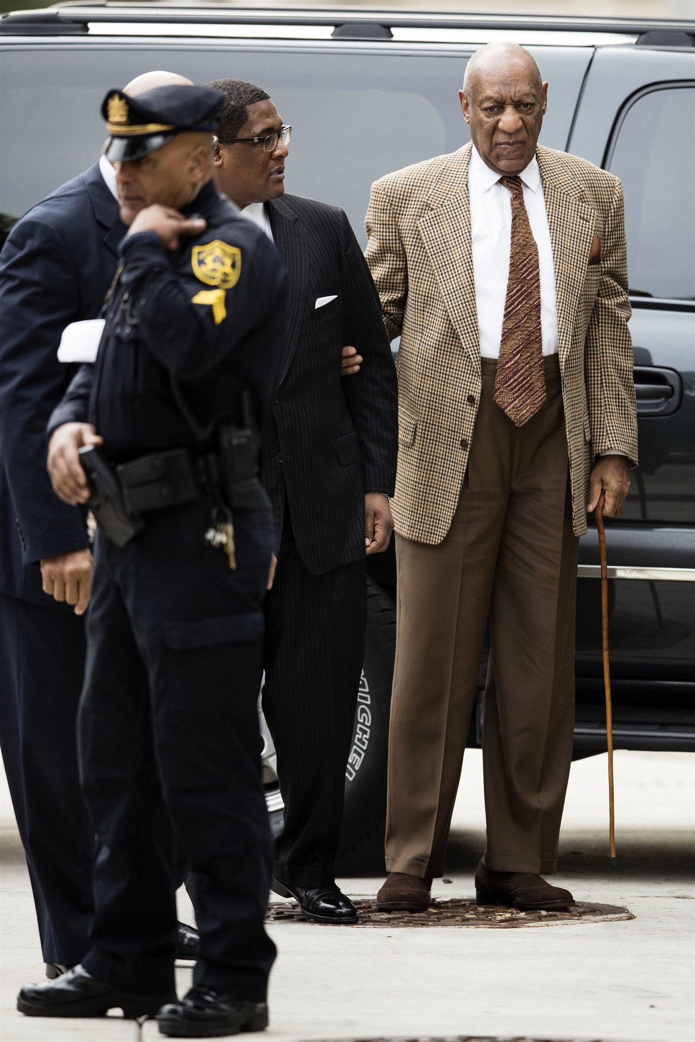 Bill Cosby arrives for a pretrial hearing in his sexual assault case at the Montgomery  County Courthouse in Norristown, Pa., Tuesday, Dec. 13, 2016.