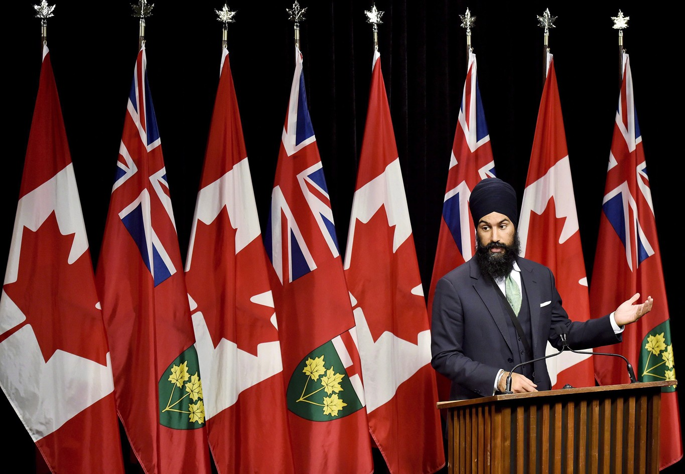 Jagmeet Singh launches bid for federal NDP leadership