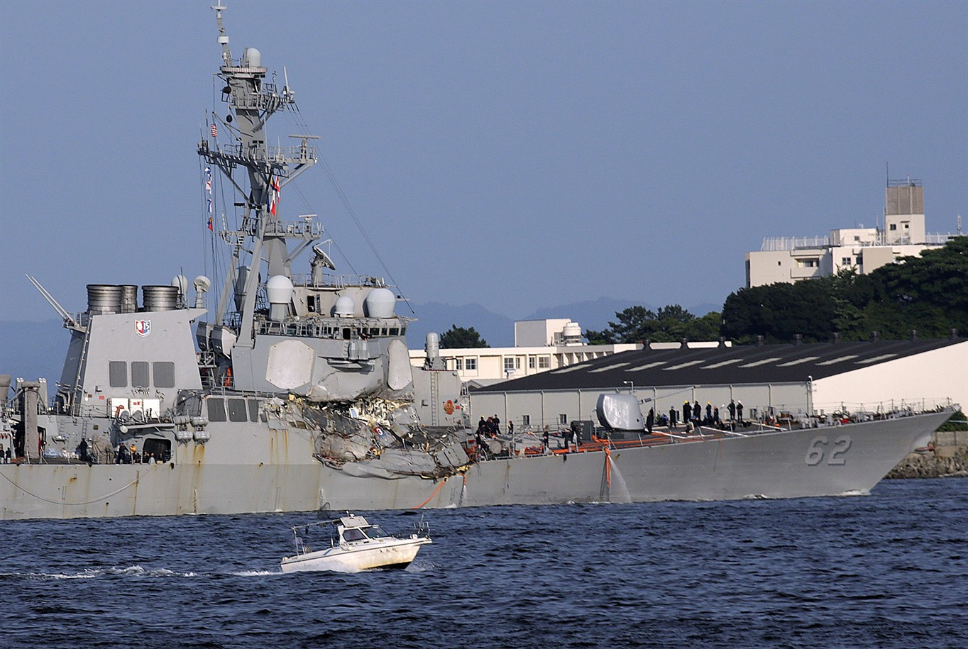 Search for 7 Navy sailors ends after bodies found on ship