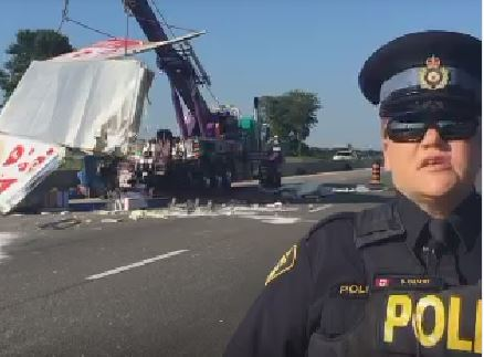 Hwy 401 re-opens after crash