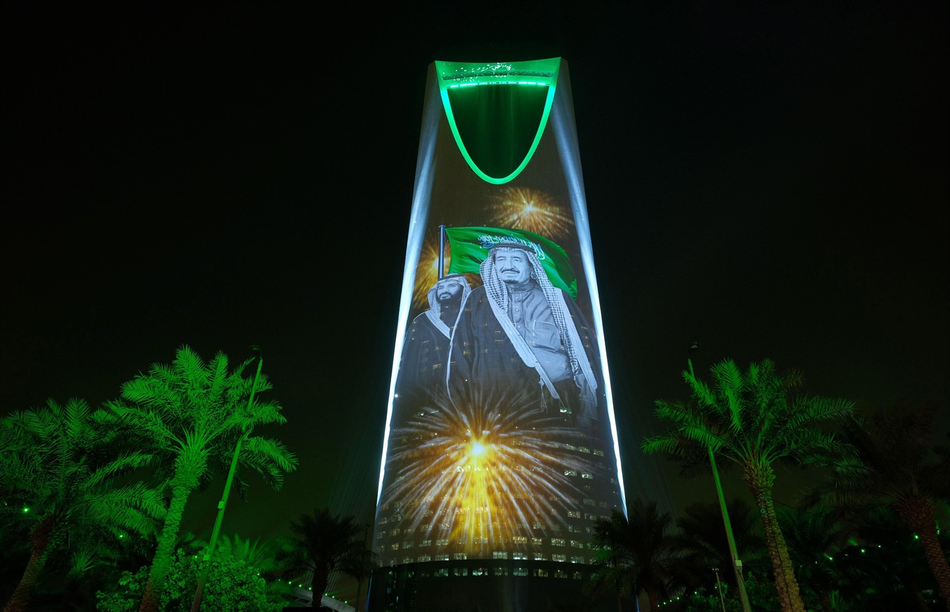 Saudi arabia to allow movie theatres after decades of ban 570 news 24 2017 photo released by the saudi culture and information ministry the image of king salman and crown prince mohammed bin malvernweather Image collections