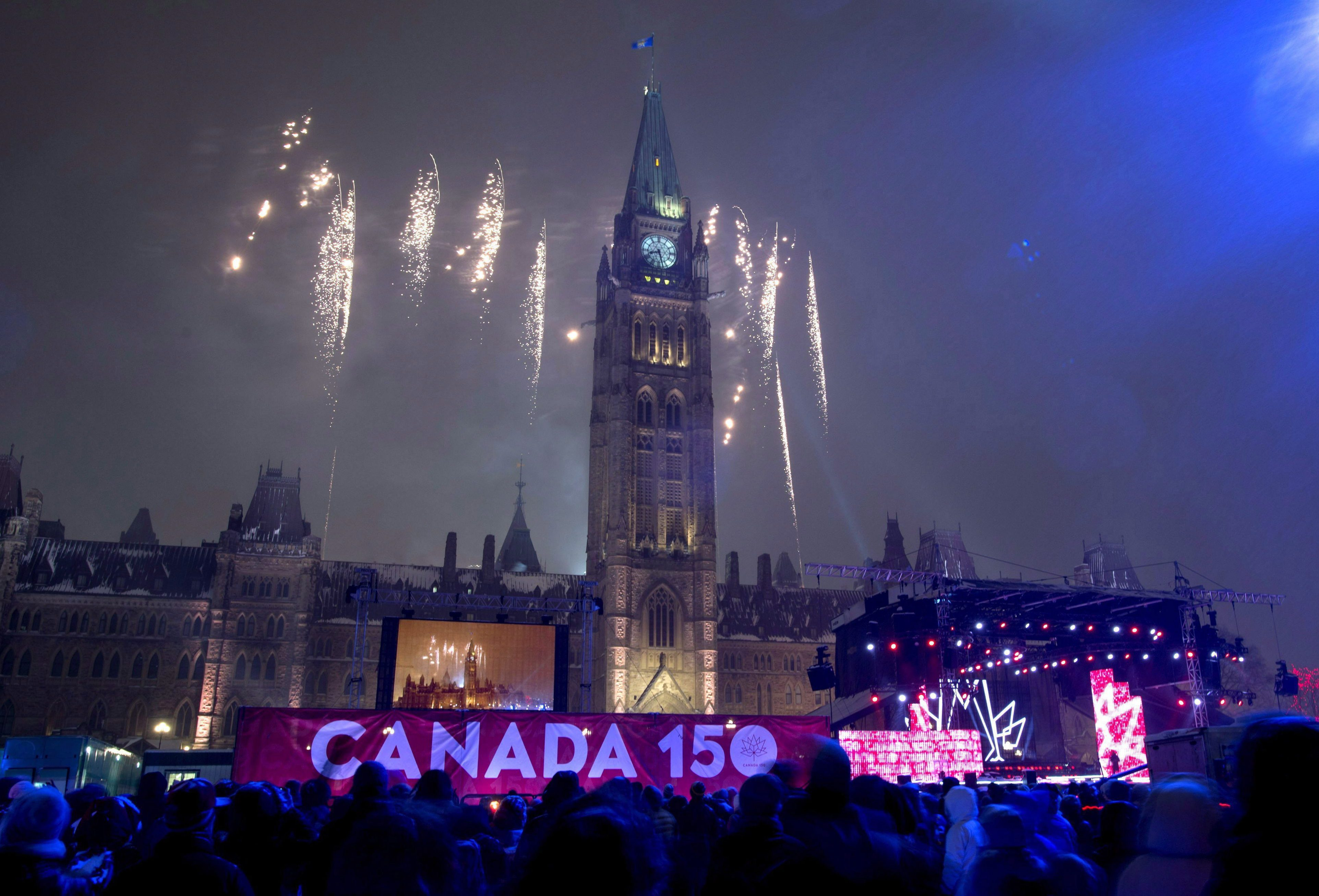 Cold weather threatens plans for Canada 150 closing on Parliament Hill