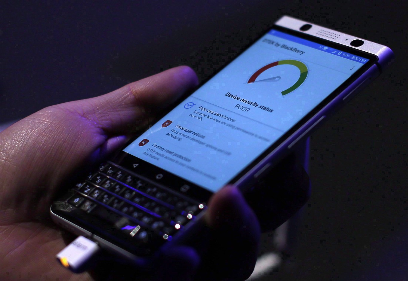 BlackBerry revenue tops expectations