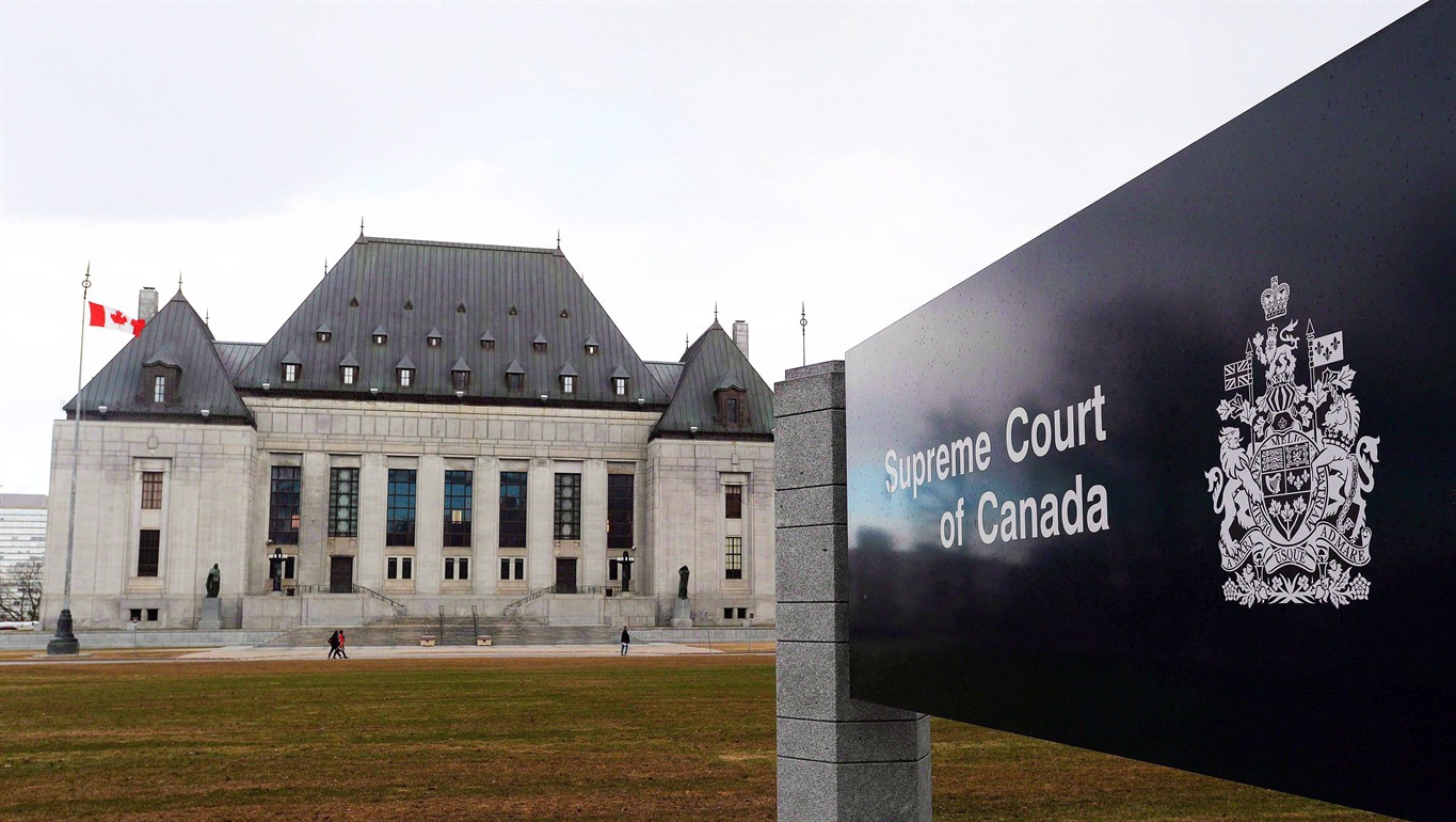 The Supreme Court of Canada in Ottawa is shown on Tuesday, April 14, 2015.  A garage owner should not be held responsible for the terrible injuries a  teen ...