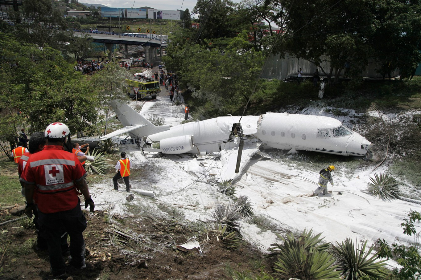 Image result for Firefighters respond to plane accident in Honduras